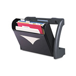 Deflecto MegaOption Pocket Wall/Partition/Desktop File, Letter/Legal/A4 Size, Black