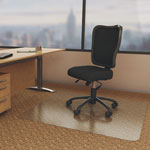 Deflecto EconoMat Vinyl Studded, No Bevel Chair Mat for Low Pile Carpet, 46x60, No Lip