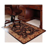 "Deflecto Chairmat, Low Pile, Rectangular, 45""x53"""
