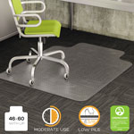 Deflecto DuraMat Vinyl Chair Mat for Low/Medium Industrial Carpet, 46 x 60, 25 x 12 Lip
