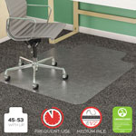 Deflecto SuperMat Vinyl, Beveled Chair Mat for Medium Weight Carpeting, 45x53, 25x12 Lip