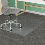 Deflecto SuperMat Vinyl, Beveled Chair Mat for Medium Weight Carpeting, 45x53, No Lip