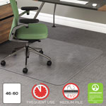 Deflecto RollaMat Vinyl Chair Mat for Medium/High Pile Plush Carpet, 46 x 60, No Lip