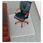 "Deflecto UltraMat Anti-Static Vinyl Chair Mat for Low/Deep Pile, Beveled, 45x53"", Clear"