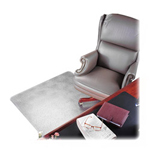 Deflecto ExecuMat Vinyl Chair Mat for Highest Pile/Plush Padded Carpet, 60x60, 30x10 Lip