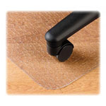 Deflecto EconoMat Vinyl Nonstudded, No Bevel Chair Mat for Bare Floor, 46 x 60, 25x12 Lip