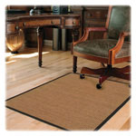 "Deflecto Chairmat, Color Band Sisal, Hard Floor, 46"" x 60"", LTBN"