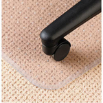 Deflecto DuraMat Vinyl Antistatic Chair Mat for Low Pile Padded Carpet, 46x60, No Lip