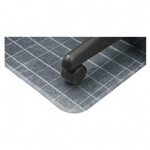 "Deflecto Checkered Chairmats, 36""x48"", Standard Lip 20""x12"""