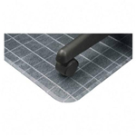 "Deflecto Checkered Mat, with Lip, 36""x48"", Lip 20""x12"", Clear"