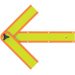 "Deflecto Safety Arrow, 18"", Orange"
