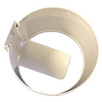 Nature's Air Wall Mount Holder, White, Metal, 6 x 6 x 4