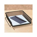 Eldon Expressions Wire Mesh Stackable Front Load Letter Tray, Pewter
