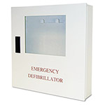 Defibtech Wall Mount Cabinet, with Alarm, White