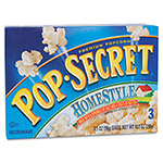 Diamond Microwave Popcorn, Homestyle, 3.5 oz Bags, 3 Bags/Box