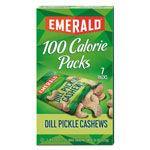 Emerald 100 Calorie Pack Nuts, Dill Pickle Cashews, 0.62 oz Pack, 7/Box