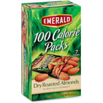 Diamond 100 Calorie Pack Dry Roasted Almonds, .63 oz Packs, 7 Packs/Box