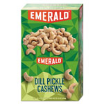 Emerald Snack Nuts, Dill Pickle Cashews, 1.25 oz Tube, 12/Box