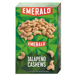Emerald Snack Nuts, Jalapeno Cashews, 1.25 oz Tube, 12/Box