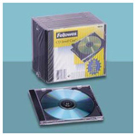 Fellowes CD/DVD Jewel Cases, Clear, 10 per Pack