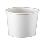 International Paper 10oz White Paper Food Container