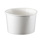 International Paper 8oz White Paper Food Container
