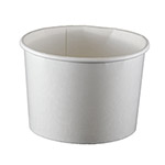 International Paper 16OZ Squat White Paper Food Container