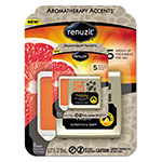 Renuzit® Fresh Accents Air Freshener, Happy - Citrus/Floral, Silver/Orange, 8/CT