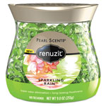 Renuzit® Pearl Scents Odor Neutralizer, Sparkling Rain, 9 oz Jar, 8/Carton