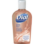 Dial Professional Body & Hair Shampoo, Peach Scent, Clear Amber, 7.5 oz Flip Cap Décor Bottle