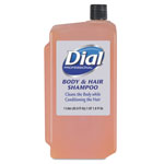 Dial Professional Body & Hair Shampoo, Peach Scent, Clear Amber, 1 Liter Cartridge