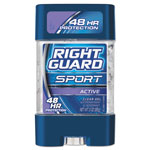 Right Guard Sport Gel Deodorant, Active Scent, 3 oz Tube, 12/Carton