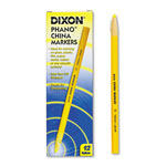 Dixon Ticonderoga China Marker, Nontoxic, Yellow, Dozen