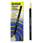 Dixon Ticonderoga China Marker, Nontoxic, Black, Dozen