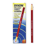 Dixon Ticonderoga China Marker, Nontoxic, Red, Dozen