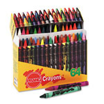 Prang Crayons Made with Soy, Assorted, 64/Box
