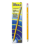 Dixon Oriole Woodcase Presharpened Pencil, HB #2, Yellow Barrel, 12/Pack