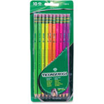Dixon Ticonderoga Neon Pencil, #2, Five Neon Colors, 10/PK, Assorted
