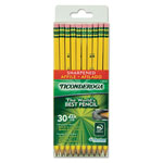 Dixon Ticonderoga Pre-Sharpened Pencil, #2, Yellow Barrel, 30/Pack