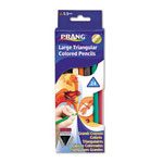 Dixon Ticonderoga Assorted Prang Triangular Colored Woodcase Pencils, 5.5 mm