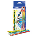 LYRA Groove Slim Colored Pencils, Assorted, 12 per Pack