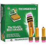 Dixon Ticonderoga Shaped Eraser, Latex-Free, 36/Box