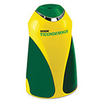 "Dixon Ticonderoga Personal Electric Pencil Sharpener, 3 1/4""w x 2 7/8""d x 7 1/4""h, Yellow/Green"