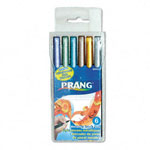 Prang Brush Pens, Non-Toxic, 6/ST, Assorted