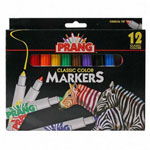 Dixon Ticonderoga Watercolor Markers, Conical Tip, 12 Bright Colors