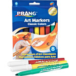 Prang Classic Art Markers, Conical Tip, 8 Assorted Colors, 8/Set