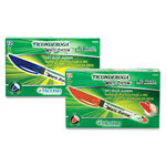 Dixon Ticonderoga Dry-Erase Markers, Antimicrobial, Fine Point, Red