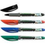 Dixon Ticonderoga Marker, Permanent, Fine Point, 4/Set, Black/BE/RD/GN