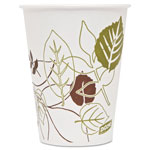 Dixie® Pathways Polycoated Paper Cold Cups, 9 oz, Green/Burgundy, 100/Pack