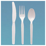 Dixie White Polystyrene Heavy Medium-Weight Teaspoon